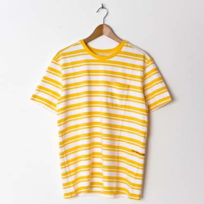 Pop Trading Company Striped Pocket Yellow