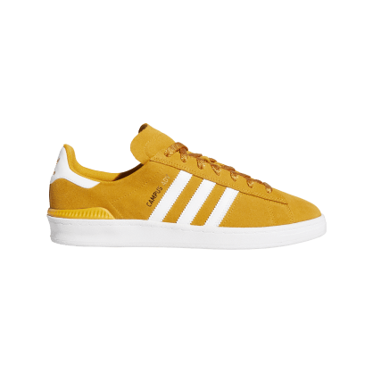adidas Campus ADV Skate Shoes - Tactile Yellow / Cloud White / Gold Metallic