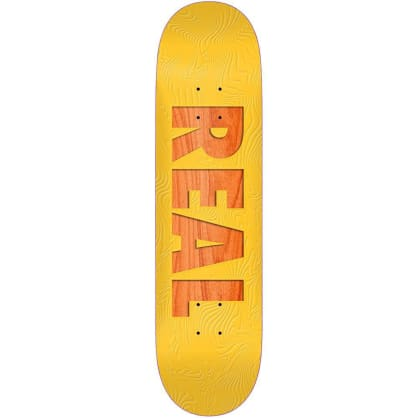 Real Skateboards Bold Series Yellow Skateboard Deck - 8.06