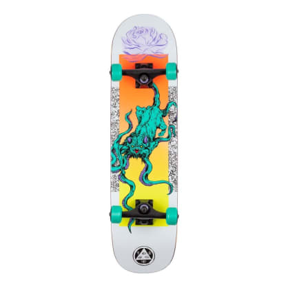 """Welcome Skateboards Bactocat On Bunyip Complete 8"""" White"""