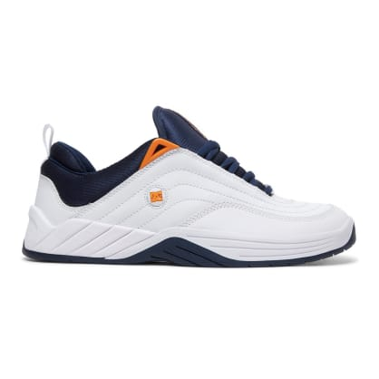 DC Williams Slim S Skateboarding Shoes - White/Navy