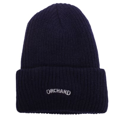 Orchard Text Logo Watch Cap Navy/Pearl