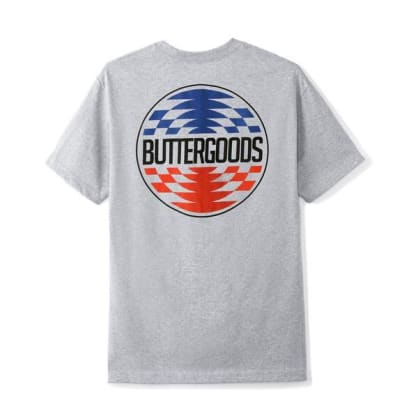 Butter Goods Press Logo Tee Heather Grey