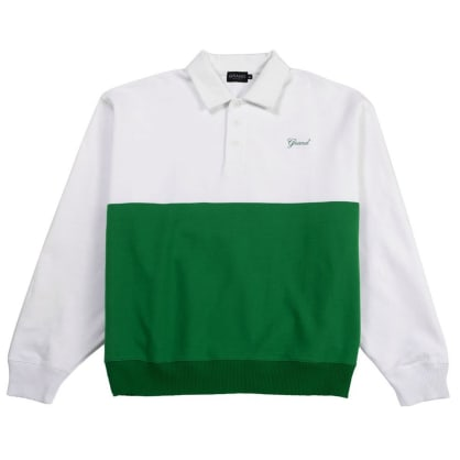 Grand Collection Collared Sweatshirt - Kelly Green / White