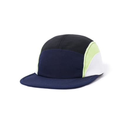 Butter Goods Crescent Camp Cap - Navy / Lime / White