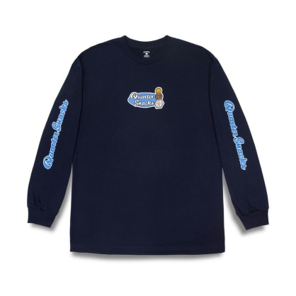 Quartersnacks Middle School Long Sleeve T-Shirt - Navy