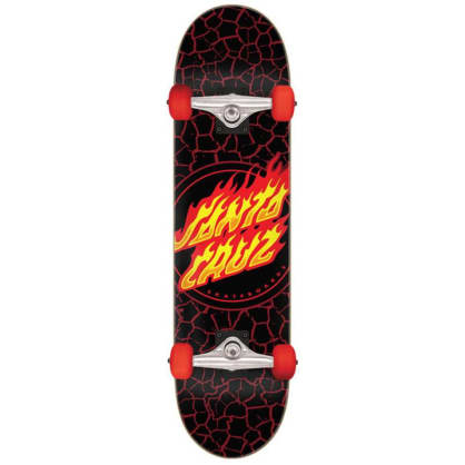 Santa Cruz Flame Dot Complete Skateboard 8""
