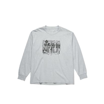 Polar Skate Co TK Long Sleeve Shirt - Sport Grey