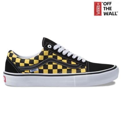 Vans Old Skool Pro - Black/Yellow Checkered