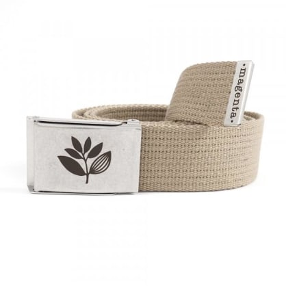 Magenta Buckle Up Belt - Beige