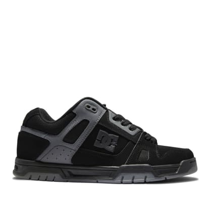DC Stag Skateboard Shoes - Black / Black / Battleship