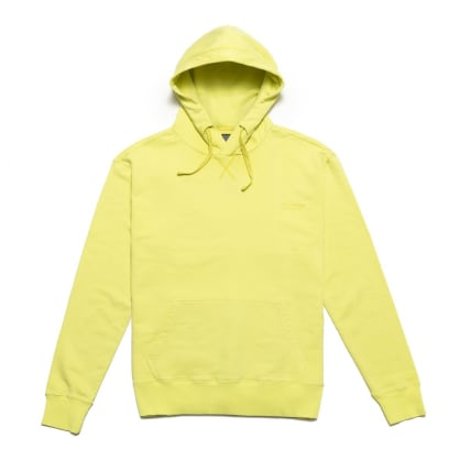 Chrystie NYC Garment Dye Classic Logo Pullover Hoodie - Apple Green