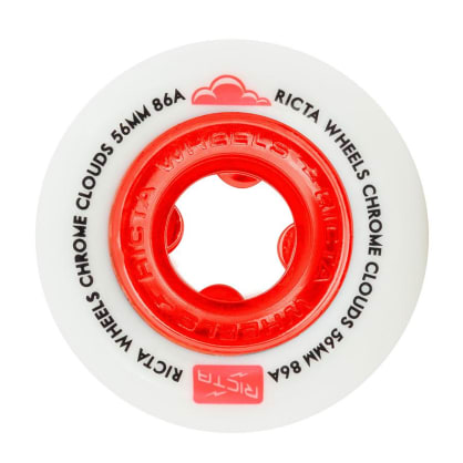 Ricta Wheels Chrome Clouds 86A Red 56mm