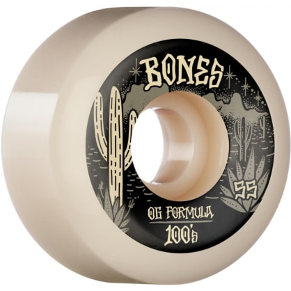 Bones - 55mm 100's V5 Desert West Sidecut Skateboard Wheels