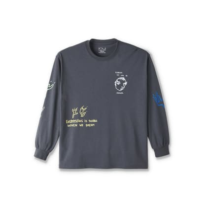 Polar Skate Co Notebook Long Sleeve T-Shirt - Graphite