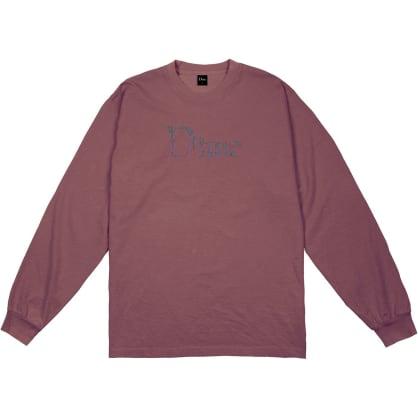 Dime Scribble Classic Logo Long Sleeve T-Shirt - Mauve
