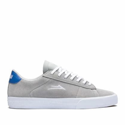 Lakai Newport Skate Shoes - Light Grey / White