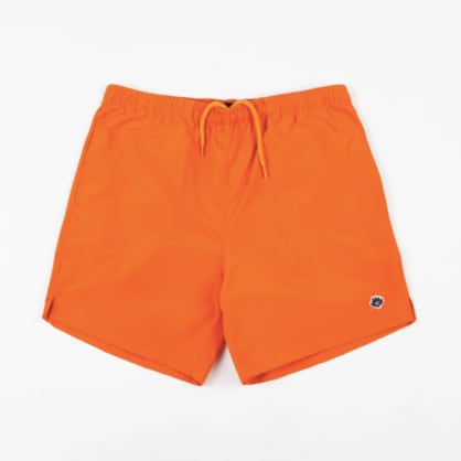 Magenta Plant Shorts - Orange