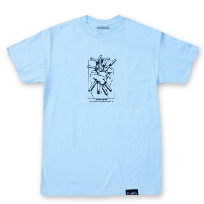 Fifty Fifty Clutching at Straws T-Shirt Baby Blue