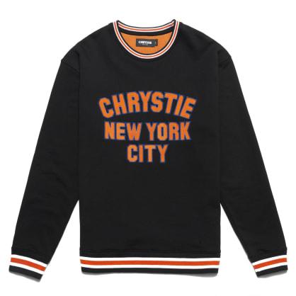 Chrystie NYC - Varsity logo crewneck sweater_Black