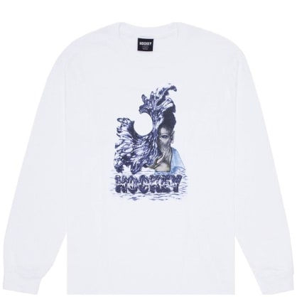 Hockey Liquid Metal Long Sleeve T-Shirt - White