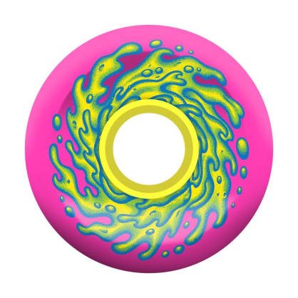 Santa Cruz OG Slime Balls Skateboard Wheels Pink/Yellow - 66mm