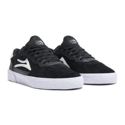 Lakai Skate Shoes Cambridge Black White Suede