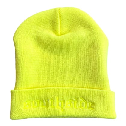 Southside Old English Beanie Neon Yellow