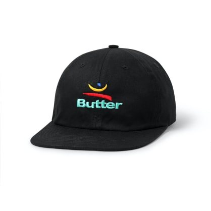 """BUTTER GOODS- """"92 SIX PANEL CAP"""" (BLACK)"""
