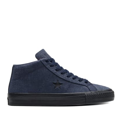 Converse CONS One Star Pro Mid Shoes - Obsidian / Hyper Pink / Black