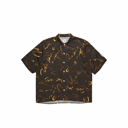 Polar Skate Co Art Shirt Signature - Brown