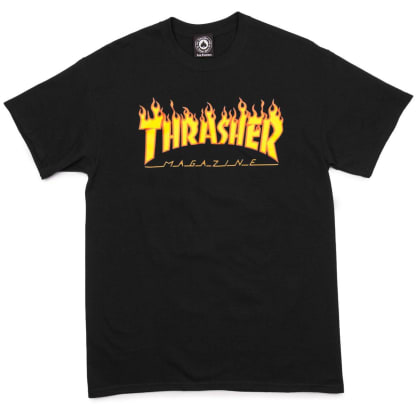 Thrasher Tee Flame Black