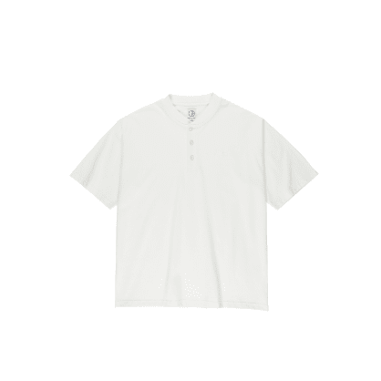 Polar Skate Co Henley T-Shirt - Cloud White