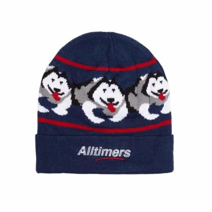ALLTIMERS SNOW PUP BEANIE - NAVY