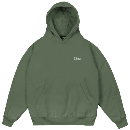 Dime Classic Small Logo Hoodie - Olive