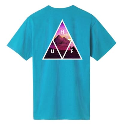 HUF Mirage Triple Triangle S/S T-Shirt Turquoise