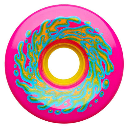 Santa Cruz Slime Balls 66mm 78A Wheels (Neon Pink / Yellow)