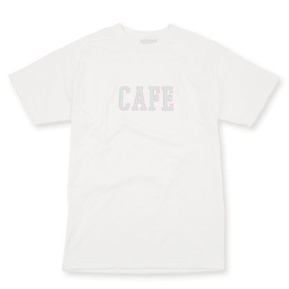 Skateboard Cafe College T-Shirt - White
