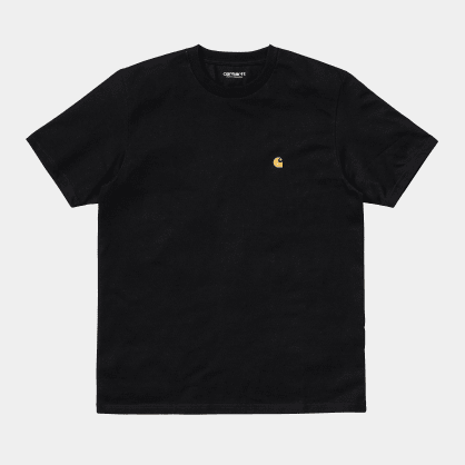 Carhartt WIP - Chase T-Shirt - Black / Gold