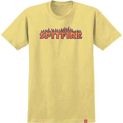 SPITFIRE Flash Fire Tee Banana/Red
