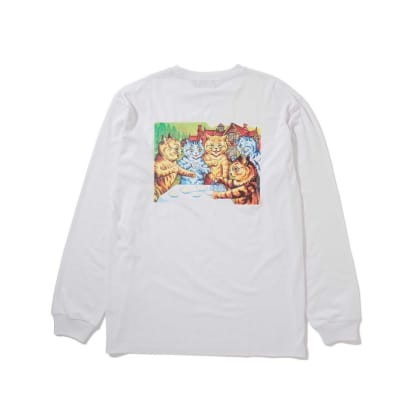 "X-LARGE - ""LONG SLEEVE OUTSIDER T- SHIRT"" (WHITE)"