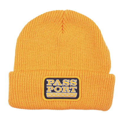 Pass~PortAuto Patch Beanie - Gold