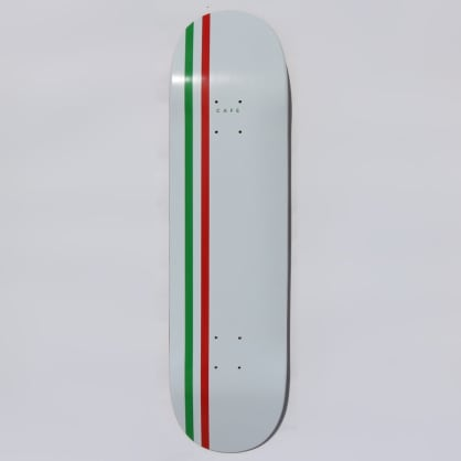 Skateboard Cafe Stripe Skateboard Deck White / Green / Red - 8.25""
