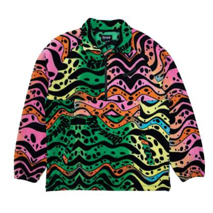 Rip N Dip Ripple Brushed Fleece Half Zip Jacket - Multicolour