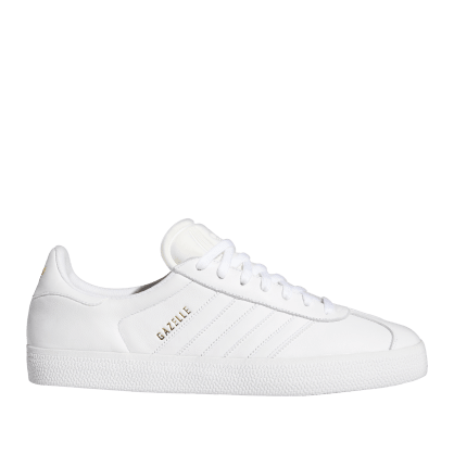 adidas Skateboarding Gazelle ADV Shoes - Ftwr White / Ftwr White / Gold Met