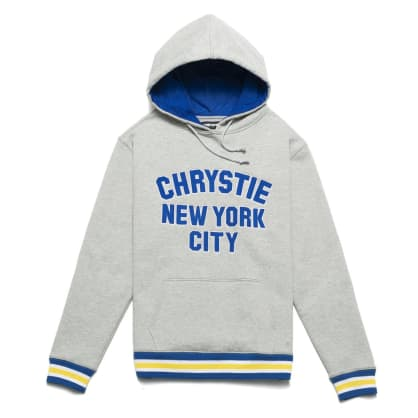 Chrystie NYC - Varsity logo pullover sweater_Ash Grey