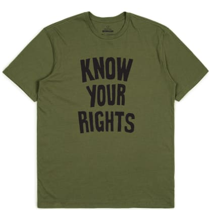 Brixton X Joe Strummer Know Your Rights II T-Shirt - Military Green