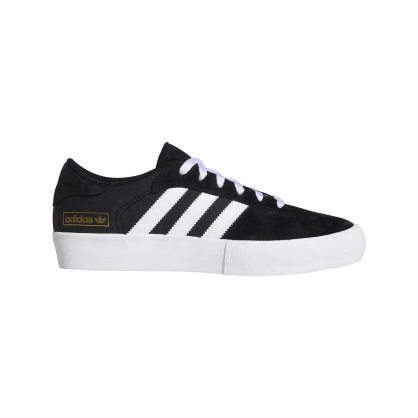 Adidas Matchbreak Super Skateboarding Shoes - Core Black/FTWR White/Gold Met