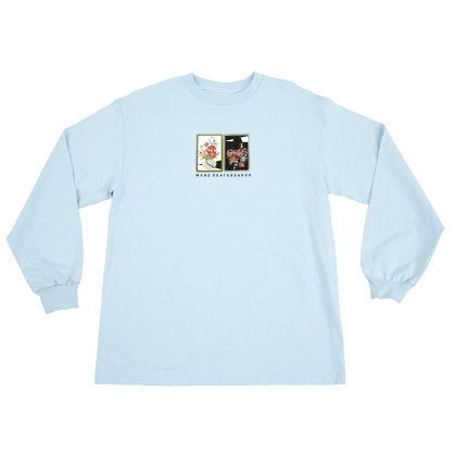 "WKND- ""GAUDY SALON VASE LONG SLEEVE T- SHIRT"" (LIGHT BLUE)"