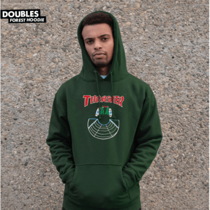 Thrasher - Doubles Pullover Hooded Sweatshirt - Forest